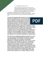 Accounting Harmonization by 2014