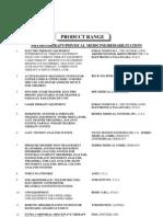 Product Range - Physio & Rehab