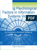 Managing Psychological Factors in Information Systems Work an Orientation to Emotional Intelligence - Eugene Kaluzniacky