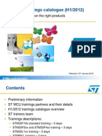 ST MCU Trainings Catalogue Marketing Pres