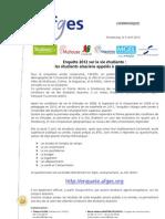 CDP enquête 2012 Vie étudiante 050412