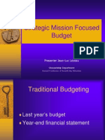 Strategic Budgeting