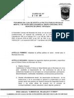 Acuerdo #087 de 2011