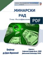 Seminar Ski Rad-Falsifikovanje Novca (S[1].a. i D.a)