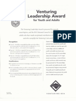 venturing leadership award