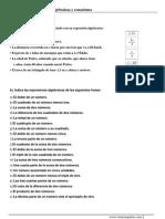 Expresiones Algebraic As y Ecuaciones