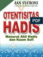 Otentisitas Hadis Menurut Ahli Hadis dan Kaum Sufi