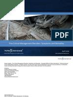 Five Critical Management Derailers Symptoms and Remedies (Profiles International – 2009)