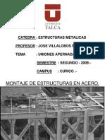 Uniones Apernadas en Estructuras en Acero.