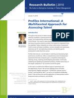 A Multifaceted Approach for Assessing Talent (2010 – Bersin Bulletin CIKK)