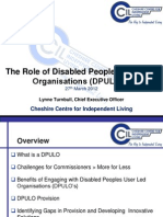 The Role of DPULOs - Presentation From Lynne Turnbull, CCIL and DPULO Ambassador