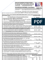 Planilha serviços contábeis 2012