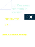 Effect of Business Environment on Tourism Industry