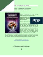 Jovan Marjanovic Basic Principles of Overunity Electro Machines