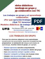 Modelos didácticos de aprendizaje en grupo y aprendizaje colaborativo con TIC