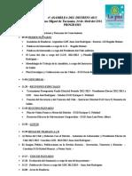 Programa IV Asamblea de Distrito 4835