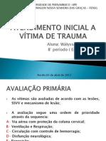 ATENDIMENTO INICIAL A VÍTIMA DE TRAUMA