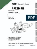 Craftsman Plate Joiner 900.277300