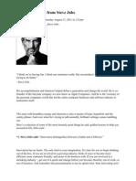 10 Golden Rules From Steve Jobs