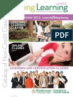 Washtenaw Community College Spring/Summer 2012 Catalog of Non-Credit Classes