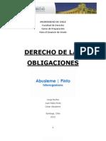 Apunte Derecho de Las Obligaciones Abusleme y Pinto