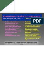 EL NOMBRAMIENTO DE MEDICOS CAS AL 15%