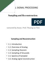 1-Sampling and Reconstruction