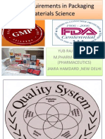 GMP Requirements in Packaging Materials Science
