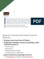 Kontrak Sosial Dan Ketuanan Melayu