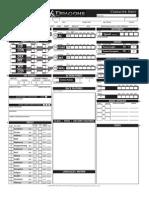 Fillable Character Sheet