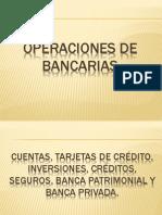 Operaciones de bancarias