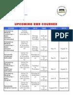 NS-LIJ Upcoming EMT & EMT-P Courses Flyer