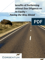 The Benefits of Performing Operational Due Diligence on Private Equity - Paving the Way Ahead