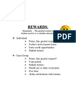 Class Rewards for Middle School