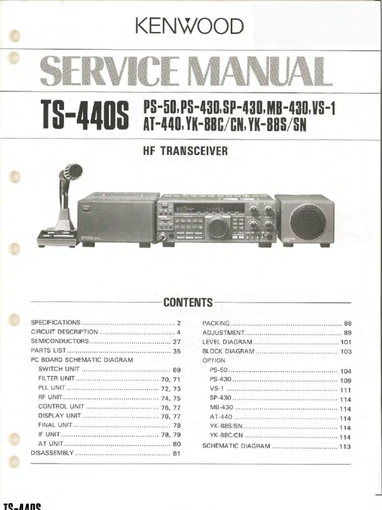 Kenwood ts 570dg Manual