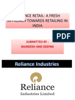 RELIANCE RETAIL- A FRESH APPROACH TOWARDS RETAILING IN INDIA