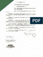 Proclamation 360 s 2012