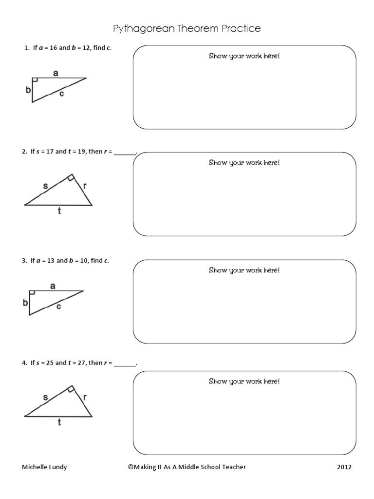 worksheet. Converse Of Pythagorean Theorem Worksheet. Worksheet Fun ...