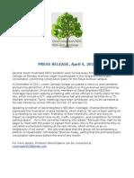 Press Release LCC auditorium