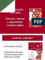 Presentación del libro Pensar, razonar y argumentar
