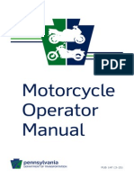 Pennyslvania Motorcycle Manual | Pennyslvania Motorcycle Handbook