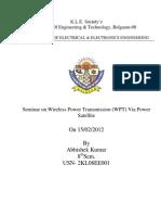 Wireless Power Transmission via Power Satellite