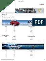 Toyota - Price List