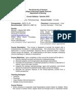 Pathophysiology - NURS 120 OL2 - Course Syllabus