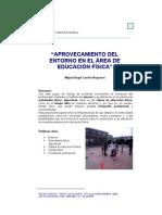 Aprovechamiento del entorno de educación física