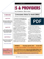 Payers & Providers California Edition  – Issue of April 5, 2012