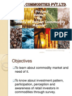 Study of Indian Commodity Market