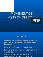 MOVIMENTOS ASTRONÔMICOS