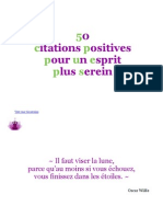 50 Citations Positives Pour Un Esprit Plus Serein