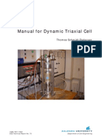 Manual for Dynamic Triaxial Cell
